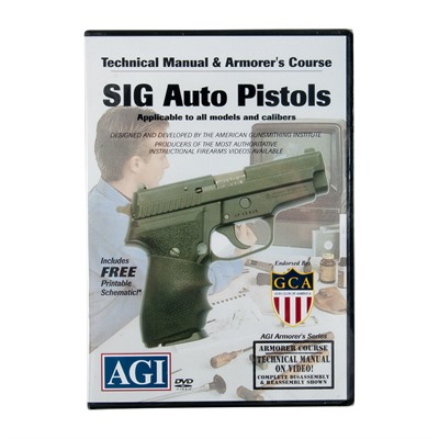 Sig Sauer Pistols Technical Manual and Armorer & 39;s Course Dvd by Agi