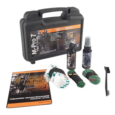 M-Pro 7 Tactical 3 Gun Cleaning Kit by Bushnell