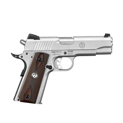 Sr1911 4.25in 45 Acp Stainless Wood Fixed 7+1rd by Ruger