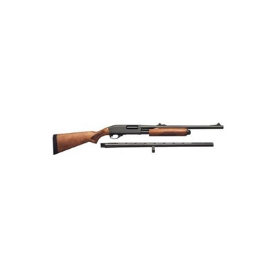 Click here to buy 870 Express 20 & 26 in 12 Ga Blue Wood Rifle Sight Deer Bbl 4+1rd by Remington.