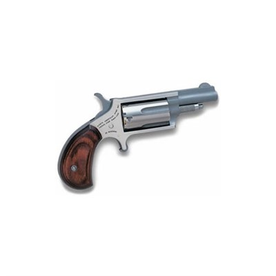 Mini-Revolver 1.625in 22 Wmr Stainless Wood Fixed 5rd by North American Arms