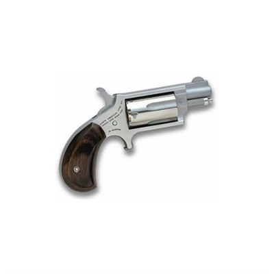 Mini-Revolver 1.125in 22 Wmr Stainless Wood Fixed 5rd by North American Arms