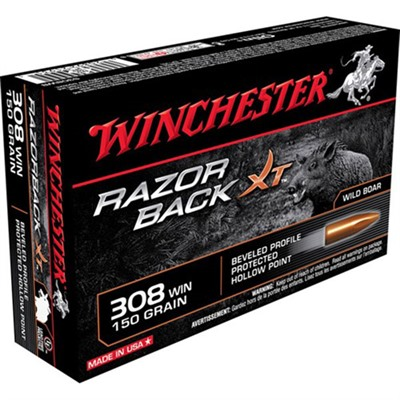 Razorback Xt Ammo 308 Winchester 150gr Protected Hp by Winchester