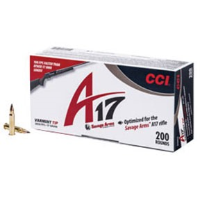 Click here to buy 17 Hmr 17gr Varmint Tip Ammunition by Cci.