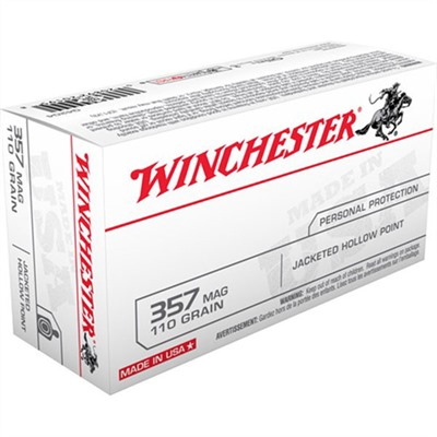 Usa White Box Ammo 357 Magnum 110gr Jhp by Winchester