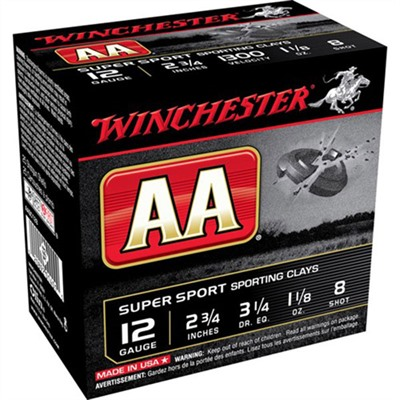 Aa Supersport Ammo 12 Gauge 2-3/4 & Quot; 1-1/8 Oz 8 Shot by Winchester