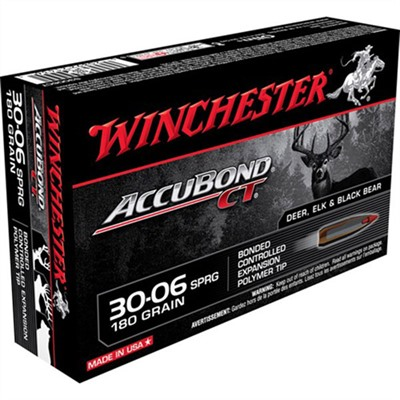 Supreme Accubond Ct Ammo 30-06 Springfield 180gr Bt by Winchester