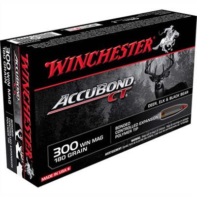 Click here to buy Supreme Accubond Ct Ammo 300 Win Mag 180gr Bt by Winchester.