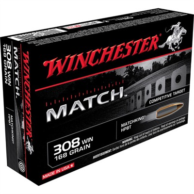 Click here to buy Supreme Match Ammo 308 Winchester 168gr Hpbt by Winchester.