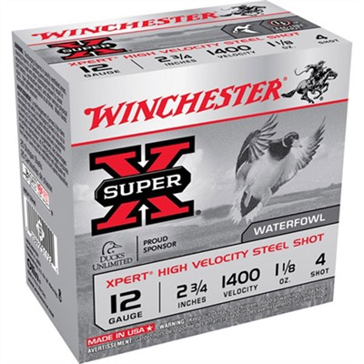 Xpert Hv Ammo 12 Gauge 3 & Quot; 1-1/8 Oz 4 Steel Shot by Winchester