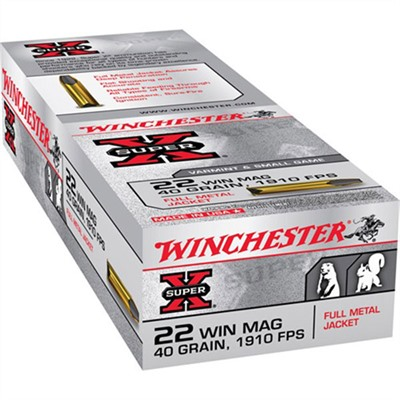 Super-X Ammo 22 Magnum (Wmr) 40gr Full Metal Jacket by Winchester