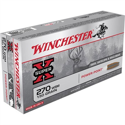 Super-X Ammo 270 Wsm 150gr Power-Point by Winchester
