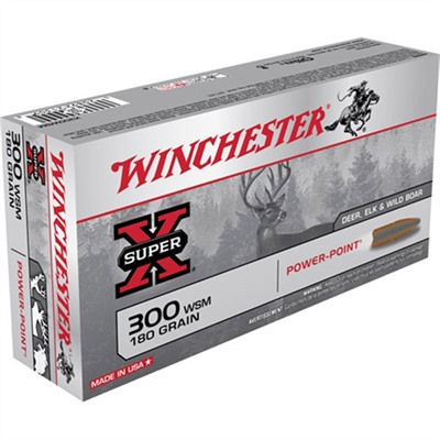 Super-X Ammo 300 Wsm 180gr Power-Point by Winchester