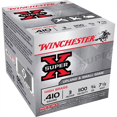 Super-X High Brass Ammo 410 Bore 3 & Quot; 3/4 Oz 7.5 Shot by Winchester