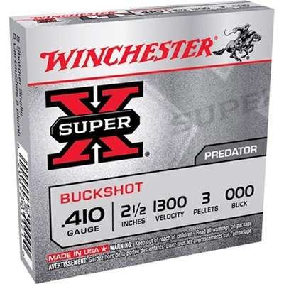 Super-X Buckshot Ammo 410 Bore 2-1/2 & Quot; 000 Shot by Winchester