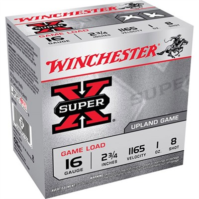 Super-X Heavy Game Load Ammo 16 Gauge 2-3/4 & Quot; 1 Oz 8 Shot by Winchester