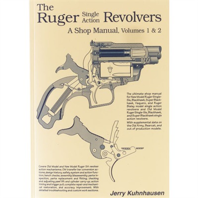 Ruger Single Action Revolvers Shop Manual by Heritage Gun Books