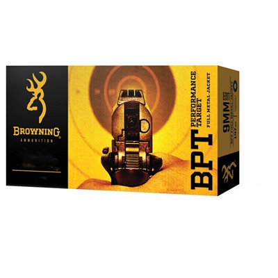 Bpt Performance Target 380 Auto 95gr Full Metal Jacket by Browning