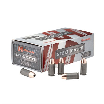 Steel Match Ammo 9mm Luger 125gr Hap by Hornady