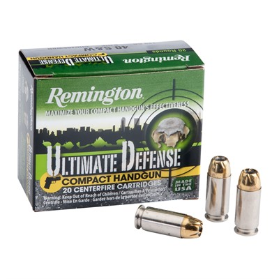 Ultimate Defense Ammo 40 S & w/ 180gr Bjhp by Remington