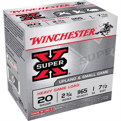 Super-X Heavy Game Load Ammo 20 Gauge 2-3/4 & Quot; 1 Oz 7.5 Shot by Winchester