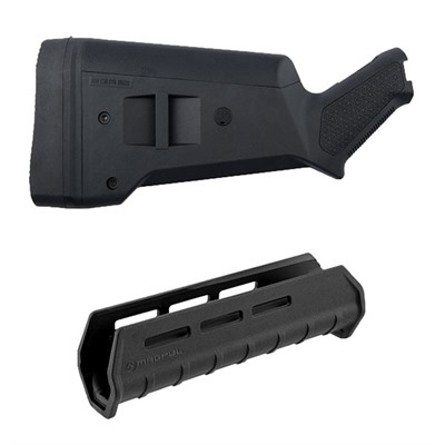 Click here to buy Mossberg 500 Sga Buttstock & M-Lok Forend Kit by Magpul.