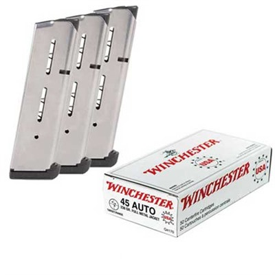 Click here to buy Usa White Box Ammo 45 Acp 230gr FMJ Ammo Can by Brownells.