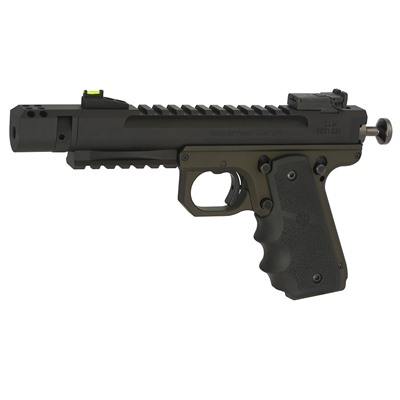 Click here to buy Scorpion, .22 Lr 1911 Style Od Green, Hogue, 4.5 & Quot;, Compensator by Volquartsen.