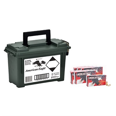 Click here to buy American Eagle Ammo 45 Acp 230gr FMJ Ammo Can by American Eagle.