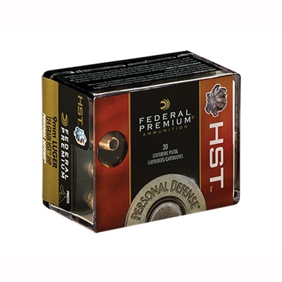 Premium Personal Defense Ammo 9mm Luger 147gr Hst by Federal