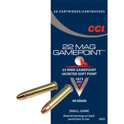 Gamepoint Ammo 22 Magnum (Wmr) 40gr Lead Gamepoint by Cci