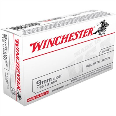 Usa White Box Ammo 9mm Luger 115gr FMJ by Winchester