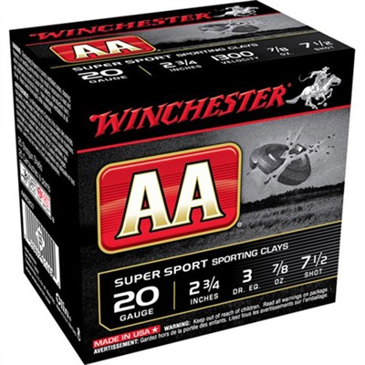 Aa Supersport Ammo 20 Gauge 2-3/4 & Quot; 7/8 Oz 7.5 Shot by Winchester