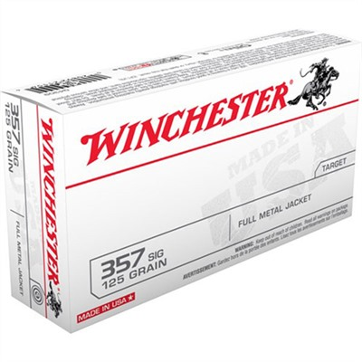 Usa White Box Ammo 357 Sig 125gr FMJ-Rn by Winchester