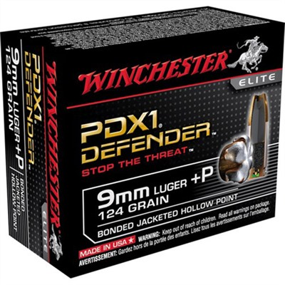 Pdx1 Defender Ammo 9mm Luger +p 124gr Hp by Winchester