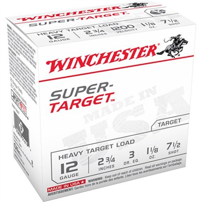 Super Target Ammo 12 Gauge 2-3/4 & Quot; 1-1/8 Oz 7.5 Shot by Winchester
