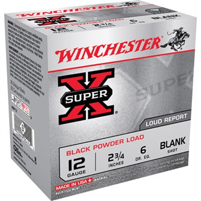 "Click here to buy Super-X Black Powder Ammo 12 Gauge 2-3/4"" Blank Shot by Winchester."