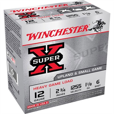 Super-X Heavy Game Load Ammo 12 Gauge 2-3/4 & Quot; 1-1/8 Oz 6 Shot by Winchester