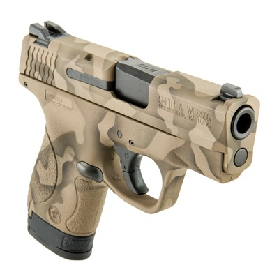 Click here to buy Camoflage S & w/ M & P Shield Handgun 9mm 8+1 by Smith & Wesson.