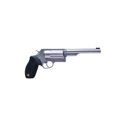 Click here to buy The Judge Magnum 6.5in 410 Bore | 45 Stainless 5rd by Taurus.