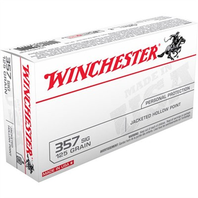 Usa White Box Ammo 357 Sig 125gr Jhp by Winchester