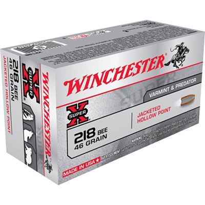Super-X Ammo 218 Bee 46gr Jhp by Winchester