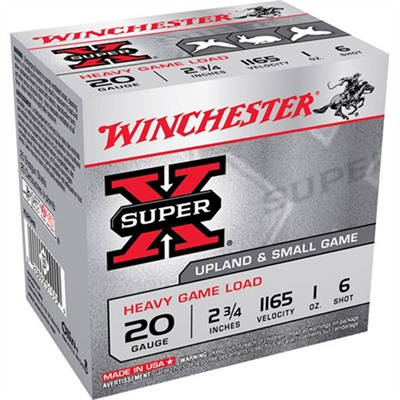 Super-X Heavy Game Load Ammo 20 Gauge 2-3/4 & Quot; 1 Oz 6 Shot by Winchester