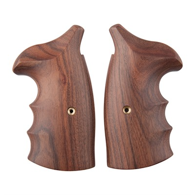 S & w/ Revolver Exotic Wood Grips by Ahrends