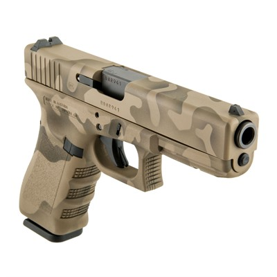 Click here to buy Camoflage G17 Gen3 Handgun 9mm 17+1 by Glock.