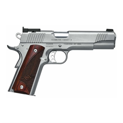 Click here to buy 1911 Stainless Target Ii 9 Mm 5in 9mm Stainless 9+1rd by Kimber Mfg..