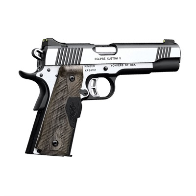 Click here to buy 1911 Eclipse Custom Ii Lg 45 Acp 5in 45 Acp Stainless 8+1rd by Kimber Mfg..