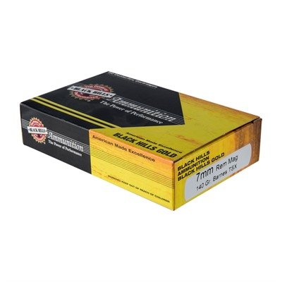 Click here to buy Black Hills Gold Ammo 7mm Remington Magnum 140gr Tsx by Black Hills Ammunition.