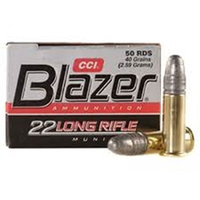 Blazer Ammo 22 Long Rifle 40gr Lead Round Nose by Cci
