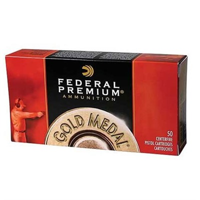 Click here to buy Gold Medal Pistol Ammo 45 Acp 185gr FMJ-Swc by Federal.